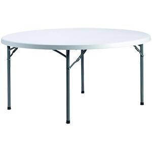 |  Stół cateringowy ogrodowy okrągły Fi 180cm - biały
