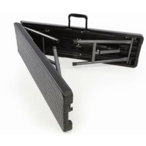 |  Ławka cateringowa składana rattan 180x30cm