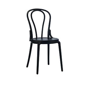 |  Krzesło kuchenne Vintage - czarne