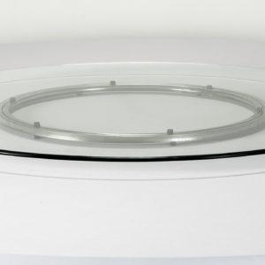 |  Blat obrotowy szklany Fi 120 cm na stół bankietowy