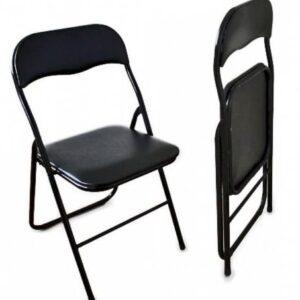 |  Krzesło składane biurowe ogrodowe - czarne