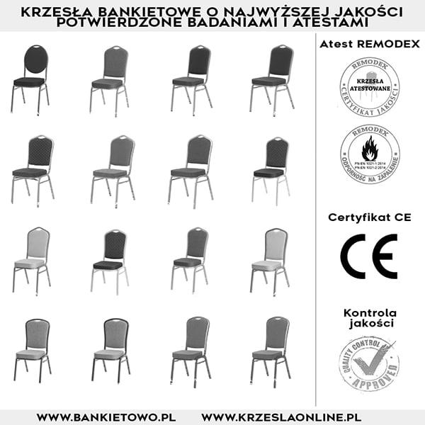 |  Krzesła bankietowe - ATESTY, CERTYFIKATY, KONTROLA JAKOŚCI