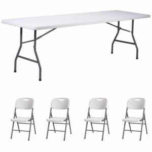 |  Stół cateringowy 180x76cm plus krzesła strong x4 - zestaw
