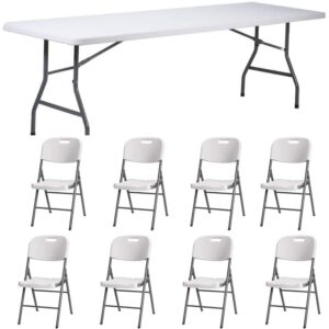 |  Stół cateringowy 200x90cm plus krzesła strong x8 - zestaw