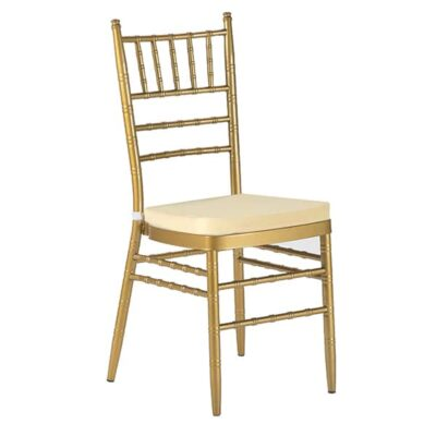 |  Krzesło weselne amerykańskie Chiavari – złoty ARP139C
