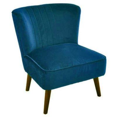 |  Fotel kawiarniany uszak niebieski