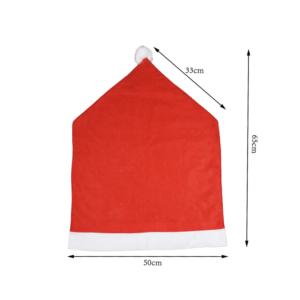 |  Pokrowiec świąteczny na krzesło - czapka św. Mikołaja