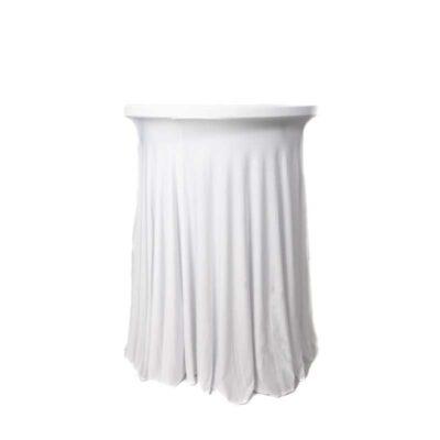 |  Pokrowiec elastyczny skirting biały na stolik koktajlowy Fi80cm
