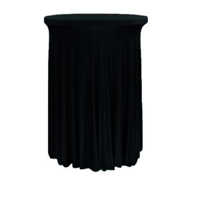 |  Pokrowiec elastyczny skirting czarny na stolik koktajlowy Fi80cm