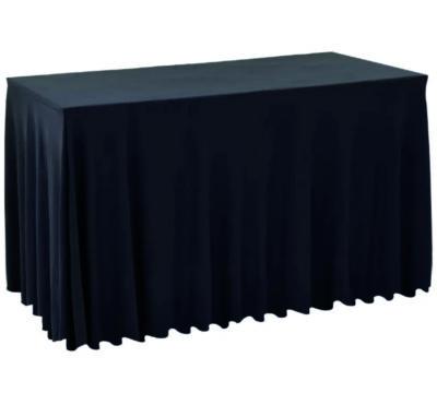    Pokrowiec elastyczny skirting czarny na stół 180x76cm