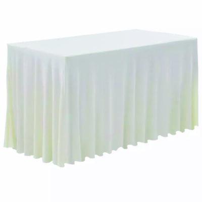 |  Pokrowiec elastyczny skirting biały na stół 180x76cm