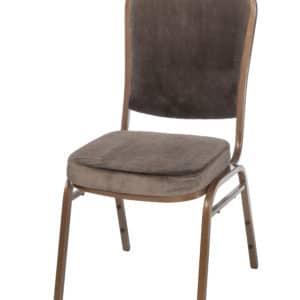 |  Krzesło bankietowe welurowe 20x20x1,0 brązowe