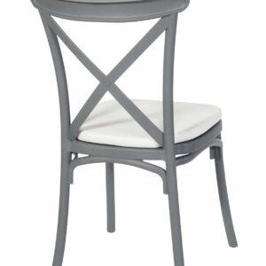 |  Krzesło krzyżowe Boho z tworzywa - szare