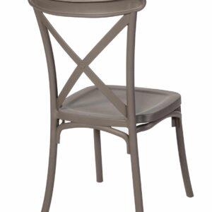 |  Krzesło krzyżowe Boho z tworzywa - beżowe