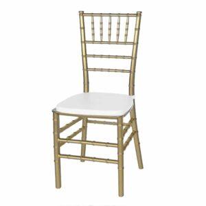 |  Krzesło weselne bankietowe Chiavari PP – szampański