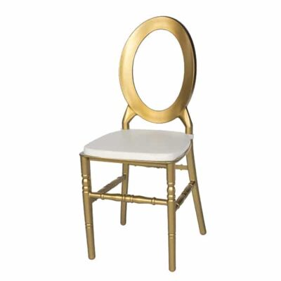 |  Krzesło weselne bankietowe O-backi PP – szampański