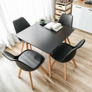 |  Krzesło nowoczesne skandynawskie Toronto – czarne | krzeslaonline.pl