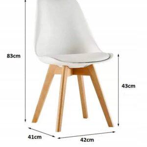 |  Krzesło nowoczesne skandynawskie Toronto – jasne szare | krzeslaonline.pl