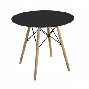 |  Stół stolik skandynawski Modena czarna Dsw Fi80cm | krzeslaonline.pl
