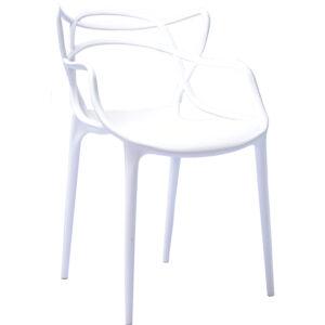 |  Krzesło nowoczesne skandynawskie Split – białe | krzeslaonline.pl