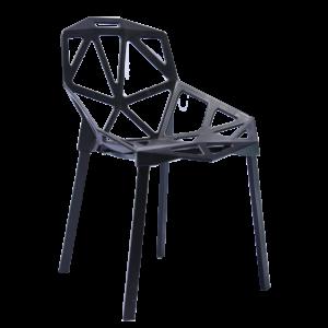 |  Krzesło nowoczesne skandynawskie Carbonia- czarne | krzeslaonline.pl