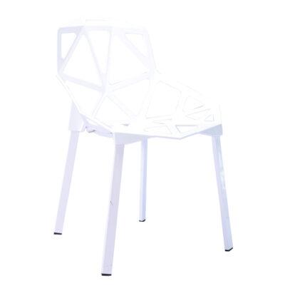    Krzesło nowoczesne skandynawskie Carbonia- białe   krzeslaonline.pl