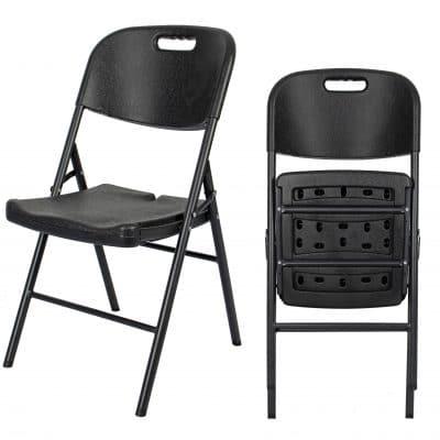 |  Krzesło cateringowe ogrodowe składane Strong czarny | krzeslaonline.pl