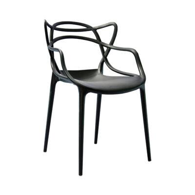 |  Krzesło nowoczesne skandynawskie Split – czarne | krzeslaonline.pl