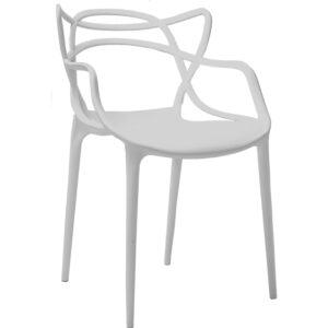 |  Krzesło nowoczesne skandynawskie Split – szare | krzeslaonline.pl