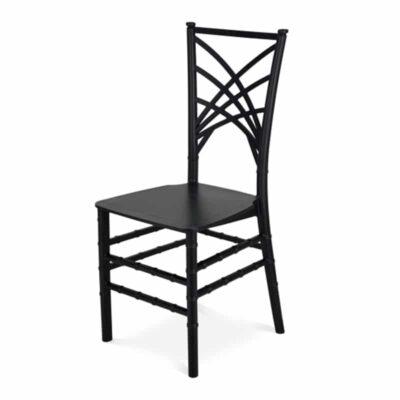 |  Krzesło weselne bankietowe Chameleon PP – czarny | krzeslaonline.pl