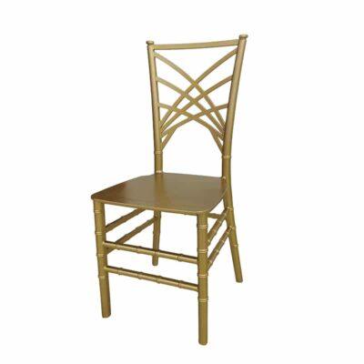|  Krzesło weselne bankietowe Chameleon PP – złoty | krzeslaonline.pl