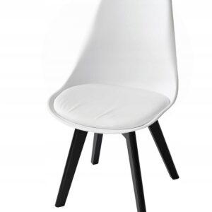 |  Krzesło nowoczesne skandynawskie Toronto – białe czarne | krzeslaonline.pl