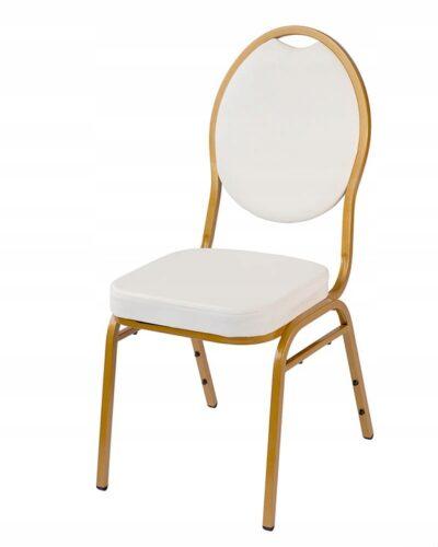 |  Krzesło bankietowe Wenecja kolor biały | krzeslaonline.pl